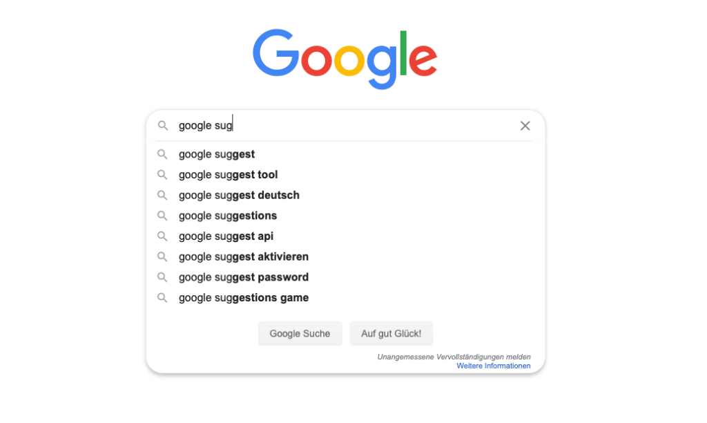 Google Suggest as a useful tool for finding keywords